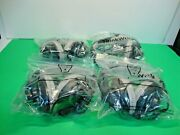 Lot Of 4 Thinkwrite Usb Headphones Stereo Wired W/ Microphone Computer Laptop