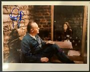 Anthony Hopkins Jodie Foster Silence Of The Lambs 8x10 Signed Photo Beckett Coa