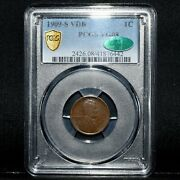 1909-s Vdb Lincoln Wheat Cent ✪ Pcgs Vg-08 Cac ✪ 1c 8 Very Good Rare ◢trusted◣