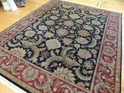 8x10 Agra Oriental Area Rug Wool Hand-knotted Rust Black Green