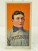 1909 T206 Honus Wagner Sweet Caporal Rp Card Aged Sleeve And Top Loader Included