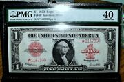1923 1 Legal Tender Note ✪ Pmg Xf-40 ✪ Fr 40 Star Note Extra Fine ◢trusted◣