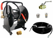 Scheiffer Sewer Jetter Kit - Ball Valve Hose Reel 1/8 X 150and039 Hose And Nozzles