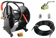 Scheiffer Sewer Jetter Kit - Ball Valve Hose Reel 1/4 X 100and039 Hose And Nozzles