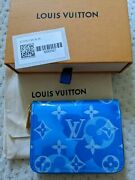 Nwt Sold Out Louis Vuitton Valentineand039s Day Zippy Coin Purse M90587 Vernis Blue
