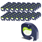 70pk Paper Refills Black On White Tape For Dymo Letratag Qx50 91330 12mm Label