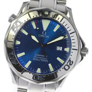 Omega Seamaster300 Professional 2265.80 Date Blue Dial Quartz Menand039s Watch_635701