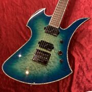 B.c.rich Mockingbird Extreme Exotic With Evertune Cyan Blue Electric Guitar