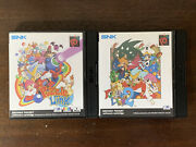 Neo Geo Snk Pocket Color Lot Puzzle Link 1 And 2 Uk English Pal Complete Cib Rare