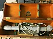 Hilger And Watts 18 Auto Collimator With Original Wood Carry Case And Power Cord