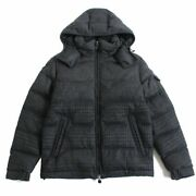 Secondhand Pole Moncler Mont Geneval Hood With Patches Wzipup Down Jacket Dark