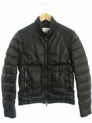 Moncler Made In Hungary Outer Jeandat Leather Switching Down Jacket Size0 2015