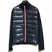 Secondhand Moncler Down Jacket Long Sleeves/knit Switching/autumn/winter Dark