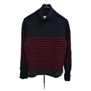 Moncler Maglia Tricot Ciclista Turtleneck Border Down Switch Knit Trainer Navy