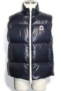 Moncler Down Vest Menand039s Approx. Size Navy Monginevro Nylon 2020 Reference List