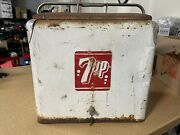 Vintage 7-up Cooler With Tray And Drain Plug Fast Shipping Coca-cola