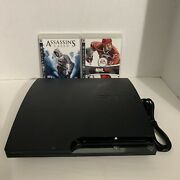 Sony Playstation 3 Slim 160gb Charcoal Black Home Console - Working