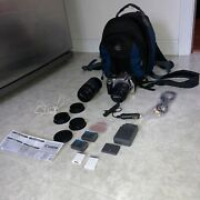 Canon Eos Rebel Xt Digital Camera W/18-55mm And 75-300mm Lens Bundle And Bag See Pic