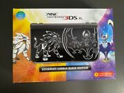 Used Nintendo 3ds Xl Solgaleo Lunala Black Edition + Games + Charger
