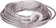 Mile Marker 19-50020c Winch Cable With Hook Of Woven Steel- 3/8x100 Ft.