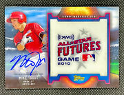 2016 Topps Mike Trout Auto 2010 Futures Game Gold Relic 2011 18/25 Update Rare