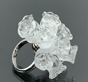 Lalique Ring Muguet Lily Of The Valley Pom Pom Sterling Silver Size 5.5