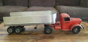Vintage Smith Miller L Mack Truck And Custom Semi Trailer Smitty Toys