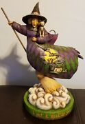 Jim Shore Halloween Witch I Put A Spell On You Retired 2004 Signed 13 Figure