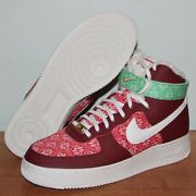 Nike Air Force 1 High 07 Nordic Christmas Sweater Shoes Mens 7 Dc1620-600 Af1