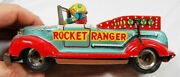 1950and039s Rocket Ranger Tin Litho Space Toy Car Plane Friction - Marusan Japan Rare
