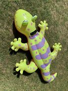 Vtg Rare 2006 Intex Big 6and039 Lizard Gecko Ride On Inflatable Float Pool Toy