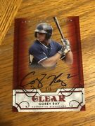 2016 Leaf Trinity Clear Corey Ray Auto Rc Milwaukee Brewers Autograph Red 2/5 5