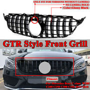 For Mercedes Benz W205 C Class 2015-2018 Gtr Amg Style Grill Front Grille Black