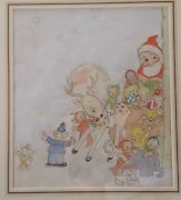 Father Christmas And Friends Painting By Mabel Lucie Atwell