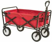 Sports Collapsible Folding Outdoor Utility Wagon, Red Stock Easy To Move