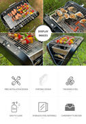Charcoal Grill Collapsibleand Portable Handle Design Bbq Grill For Bbq Stock
