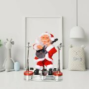 Electric Santa Claus Musical Instrument Playing Christmas Toys Party Jc