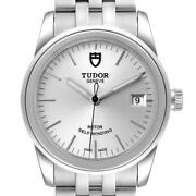 Tudor Glamour Date Silver Dial Automatic Steel Mens Watch M55000