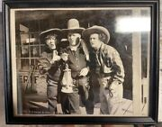 The Three 3 Stooges Vintage Signed In Fountain Pen 8 X 10 Photo - Autographed