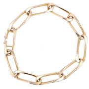 Bracelet Made Of Rose Gold Mesh Figaro Twisted Vintage Jewelry Antiques