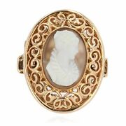 Ring Antique In Rose Gold Cameo Romantic Belle Andeacutepoque Antique Jewelry