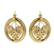 Earrings Old Gold Creole Yellow Gold Jewelry Antiques