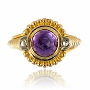 Amethyst Ring Diamonds Antique Yellow Gold Belle Andeacutepoque Jewelry Antiques