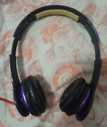 Beats By Dr. Dre Solo Hd Drenched Headband Headphones Purple No Case With Wire