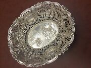 Antique Sterling Silver Basket With 850 Stamped This Is A Very Old Nice Piece