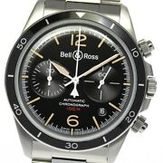 Bell&ross Vintage Brv2-94 Chronograph Black Dial Automatic Menand039s Watch_629040