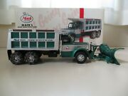 First Gear - Mack L-model Dump Truck With Snow Plow / Chains - 1/34 Diecast