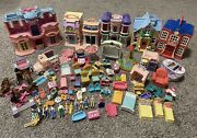 Huge Lot Fisher Price Sweet Streets Loving Family Mat Houses People Accessories