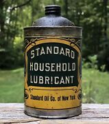 Cool Early Standard Oil Co. Household Lubricant Metal Can Amazing Graphics