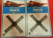 Lot Of 2 Bachmann 54-7558 N Scale 90 Degree Crossing Track